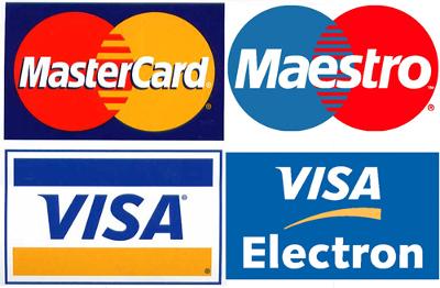 obsługujemy karty płatnicze